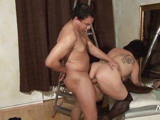 Секс видео зрелые дамы толстушки большие сиськи